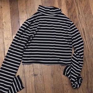 Buy 1 get 1 free 😊 Striped mock neck cropped top
